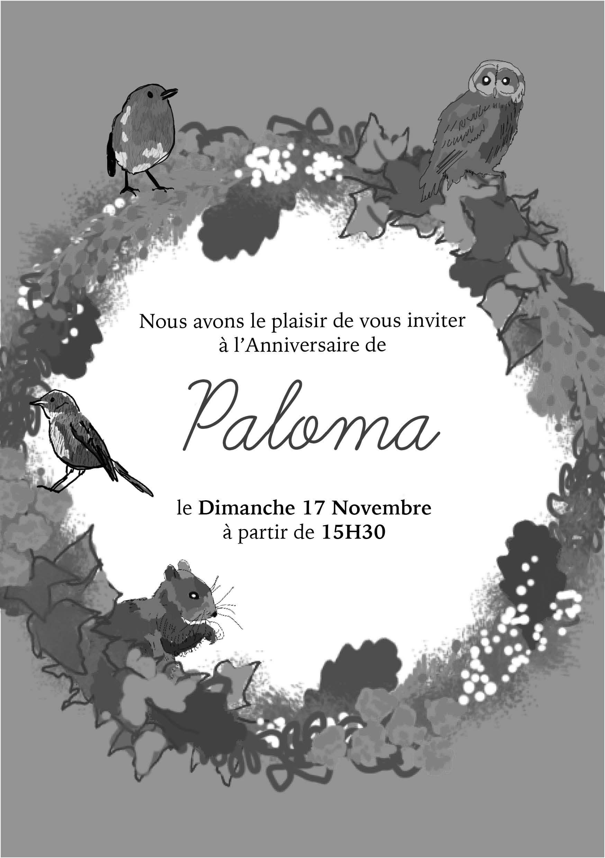 CARTON D'ANNIVERSAIRE Paloma // Graphisme