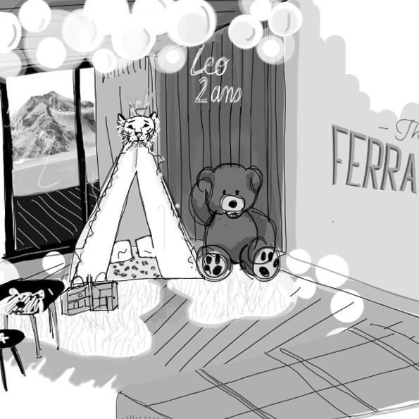 tapie pour enfant avec peluche ours à côté