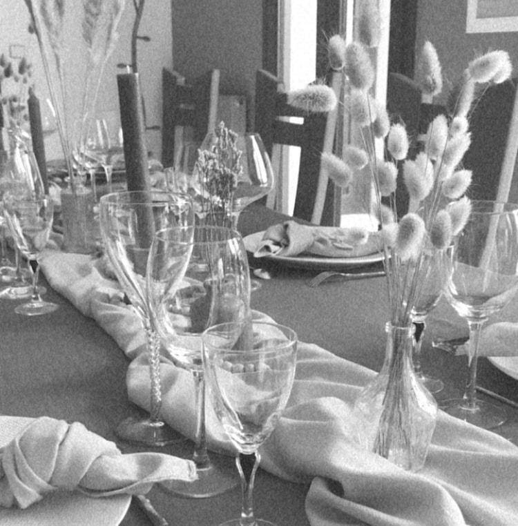 décoration fleurs séchées et bougies